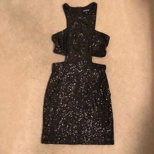 Express sequin dress, middle cut out- size 4